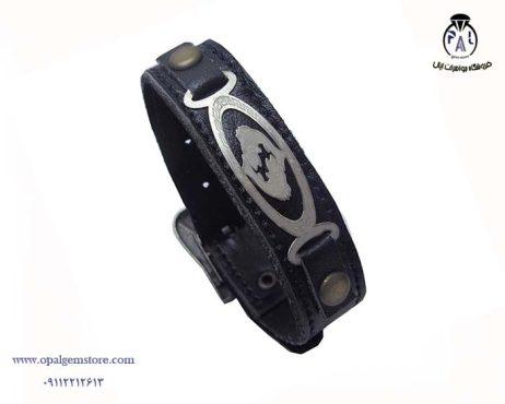 قیمت دستبند چرم نقره
