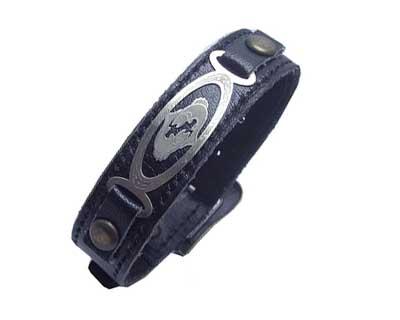 دستبند چرم نقره کد ۱۴۱۷