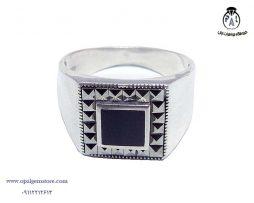 فروش انگشتر نقره اسپرت مردانه با قیمت مناسب
