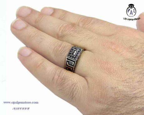 فروش انگشتر نقرهاسپرت مردانه با قیمت مناسب