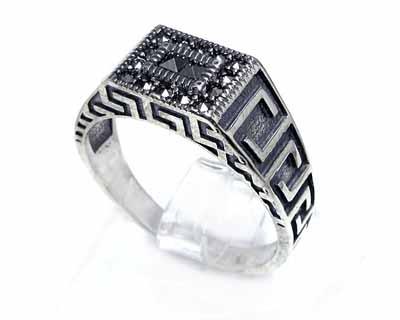 انگشتر نقره اسپرت مردانه کد ۱۵۵۵